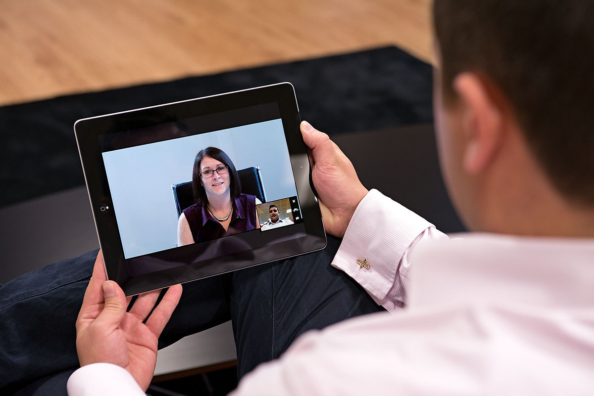 iPad Conference Call Using Viju Video Conferencing Software