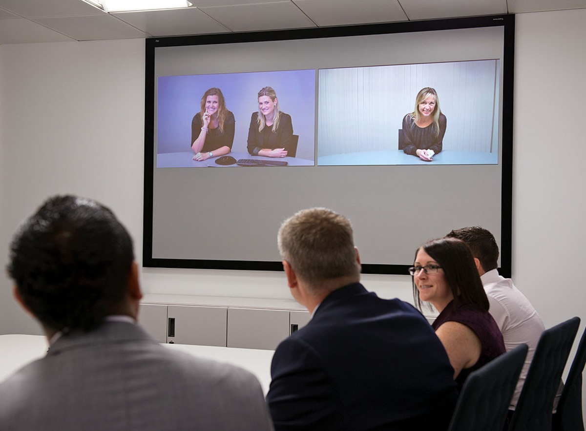 An Example of a Video Conference in multiple locations