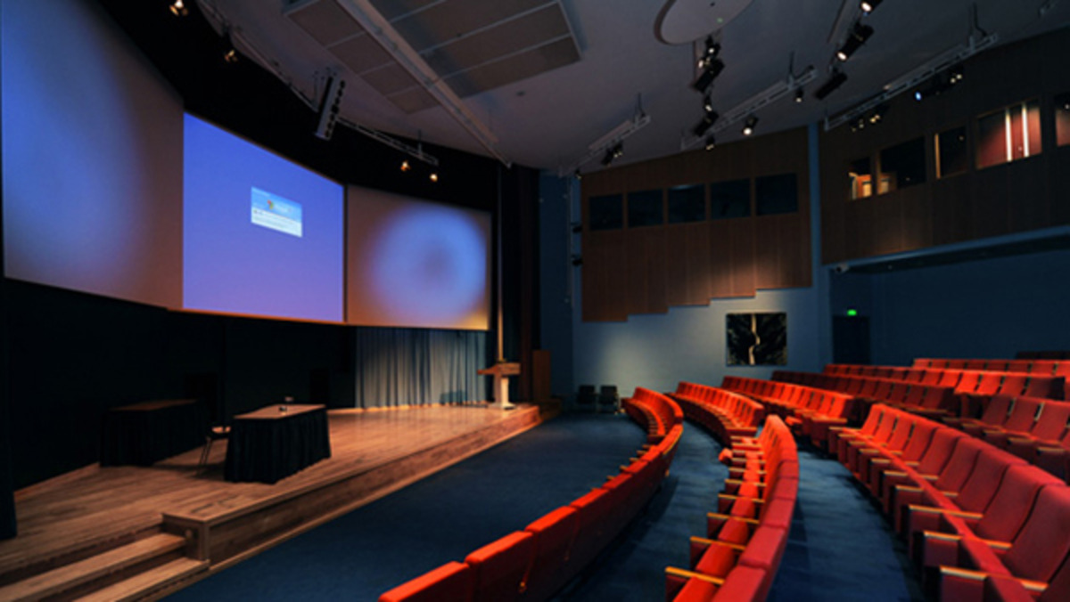 Lecture Theatre that uses Viju Audio and Visual Services