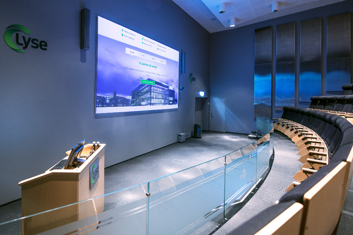 Lecture Theatre that uses Viju Audio Visual Services