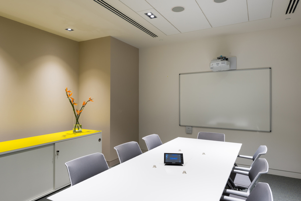 Meeting Taking Place in a Viju Conferencing Room
